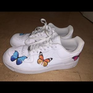 Custom Butterfly Air Force 1s